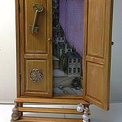 """Для дома и интерьера ручной работы. Ярмарка Мастеров - ручная работа """"Дверь к счастью! Приглашение.""""  -  ключница панно. Handmade."""