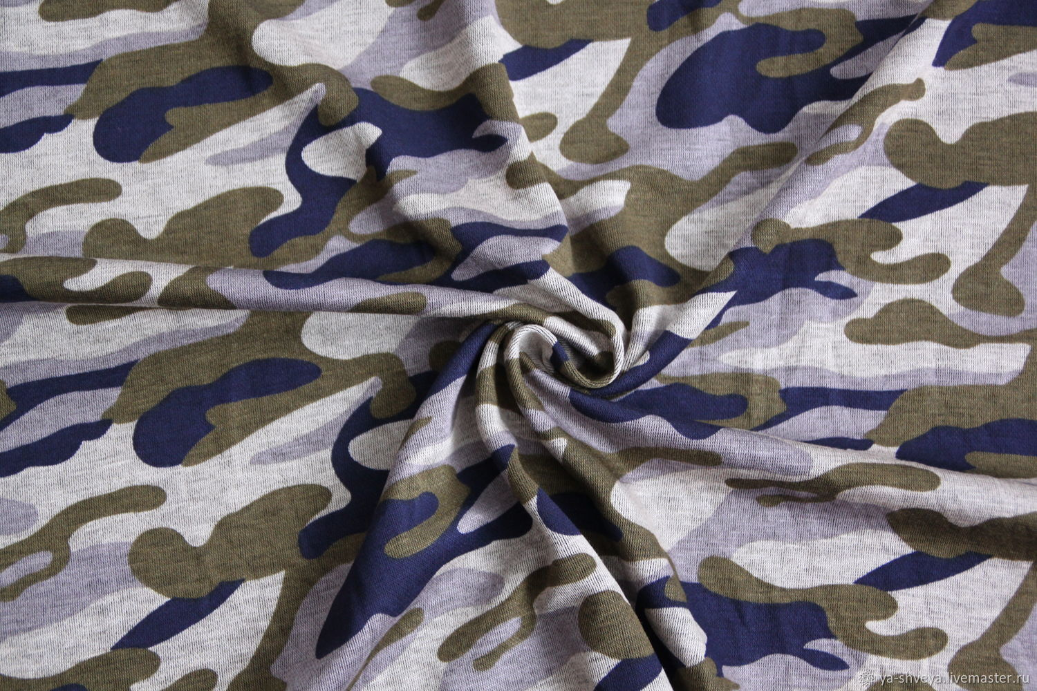 'Camouflage' - a Dense knit of viscose (modal), Fabric, Moscow,  Фото №1