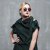 Одежда handmade. Livemaster - original item GGA_032 Vest-transformer, color green and black Metanet/black. Handmade.