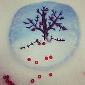 """Украшения ручной работы. Ярмарка Мастеров - ручная работа Вдохновляющая брошь""""Яблоки на снегу"""", войлок. Handmade."""