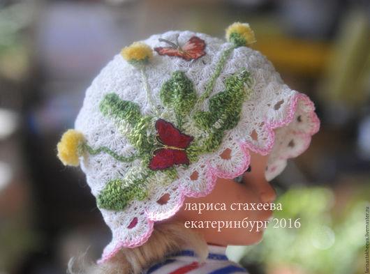 Шапки и шарфы ручной работы. Ярмарка Мастеров - ручная работа. Купить шапка одуванчик. Handmade. Комбинированный, панамка для девочки