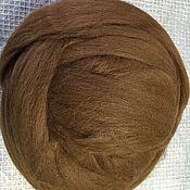 Wool handmade. Livemaster - original item Alpaca (Alpaka) Wool for felting.Chestnut. Germany.. Handmade.