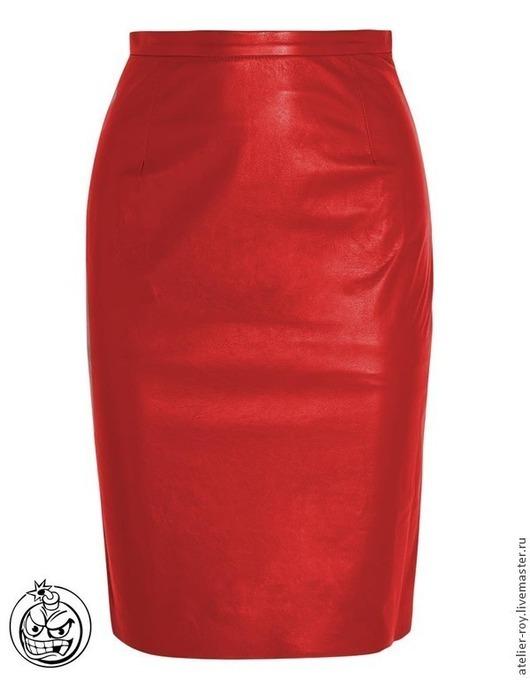 Юбки ручной работы. Ярмарка Мастеров - ручная работа. Купить Кожаная юбка BomberMen Модель №2. Handmade. Рыжий