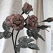 """Цветы и флористика ручной работы. Ярмарка Мастеров - ручная работа Роза """"Офелия"""". Роза из бисера. Handmade."""