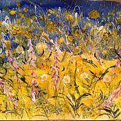 Картины и панно handmade. Livemaster - original item Motley meadow. Mixed media.. Handmade.