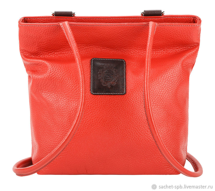 Womens leather backpack Valentino (red), Classic Bag, St. Petersburg,  Фото №1