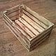 Деревянный реечный ящик с обжигом. Идеальный вариант для хранения фруктов и овощей на вашей кухне. Также может быть использован в быту. Выполним в любом количестве под заказ по Вашим размерам!
