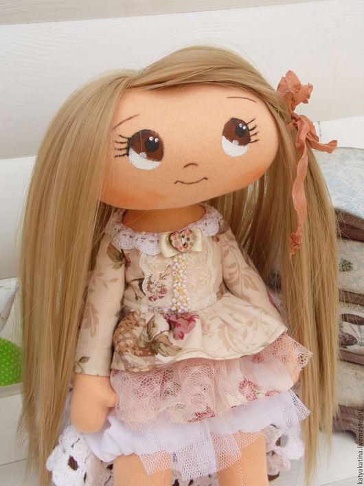 Человечки ручной работы. Ярмарка Мастеров - ручная работа. Купить Куколка. Handmade. Бежевый, кукла в подарок, интерьер, хлопок, трикотаж