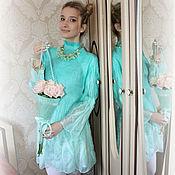 Одежда ручной работы. Ярмарка Мастеров - ручная работа Платье валяное Мятная весна. Handmade.