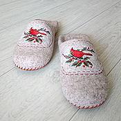Обувь ручной работы handmade. Livemaster - original item Felted women`s Slippers. Handmade.