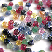 Материалы для творчества handmade. Livemaster - original item Gems beads roundels. Handmade.