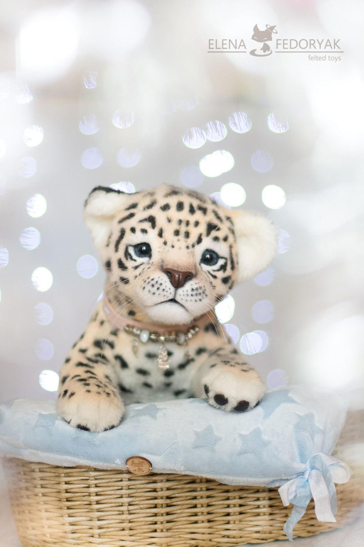 Куклы и игрушки ручной работы. Ярмарка Мастеров - ручная работа. Купить леопардик Ананд. Handmade. Валяние, коллекционная игрушка, мех