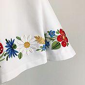 Для дома и интерьера handmade. Livemaster - original item Tea towel with embroidery