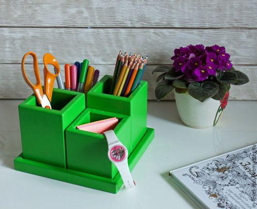 Карандашницы ручной работы. Ярмарка Мастеров - ручная работа. Купить Цветной органайзер для канцелярии. Handmade. Комбинированный, канцелярия, для дома и интерьера