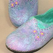 Обувь ручной работы handmade. Livemaster - original item Felted Slippers Provence. Handmade.