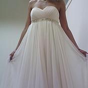 """Свадебный салон ручной работы. Ярмарка Мастеров - ручная работа свадебное платье"""" богиня"""". Handmade."""