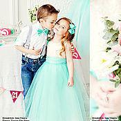 Работы для детей, ручной работы. Ярмарка Мастеров - ручная работа Tiffany нарядное платье для девочки. Handmade.