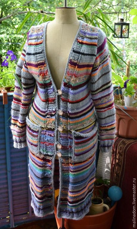 """Верхняя одежда ручной работы. Ярмарка Мастеров - ручная работа. Купить Вязаное пальто """"Мандала"""". Handmade. Разноцветный, пальто вязаное"""