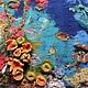 """Пейзаж ручной работы. Картина из шерсти """"Подводный сад"""". Макарова Оксана (sanzharka). Ярмарка Мастеров. Подводное царство, затонувший корабль"""