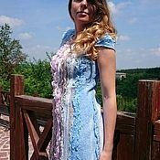 """Одежда ручной работы. Ярмарка Мастеров - ручная работа Платье """"Sea breeze"""", нуновойлок. Handmade."""