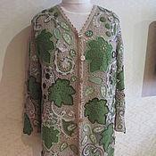 Одежда ручной работы. Ярмарка Мастеров - ручная работа Кардиган с листьями. Handmade.