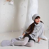 Работы для детей, ручной работы. Ярмарка Мастеров - ручная работа Герда пуловер вязаный для девочки. Handmade.