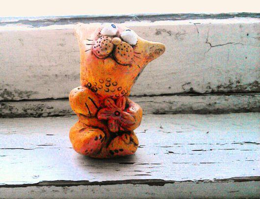 Персональные подарки ручной работы. Ярмарка Мастеров - ручная работа. Купить Керамический кот.. Handmade. Кот, Керамика, сувениры и подарки