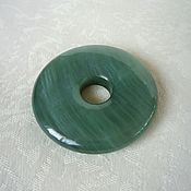 Украшения handmade. Livemaster - original item The pendant is a disc of jade. Handmade.