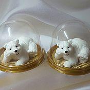 Мыло ручной работы. Ярмарка Мастеров - ручная работа Мишка белый. Сувенирное мыло. Handmade.