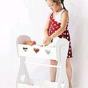 Куклы и игрушки handmade. Livemaster - original item Crib cradle for dolls with dressing room. Doll furniture wooden. Handmade.