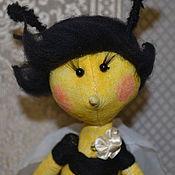Куклы и игрушки ручной работы. Ярмарка Мастеров - ручная работа Текстильная пчелка Лия. Handmade.