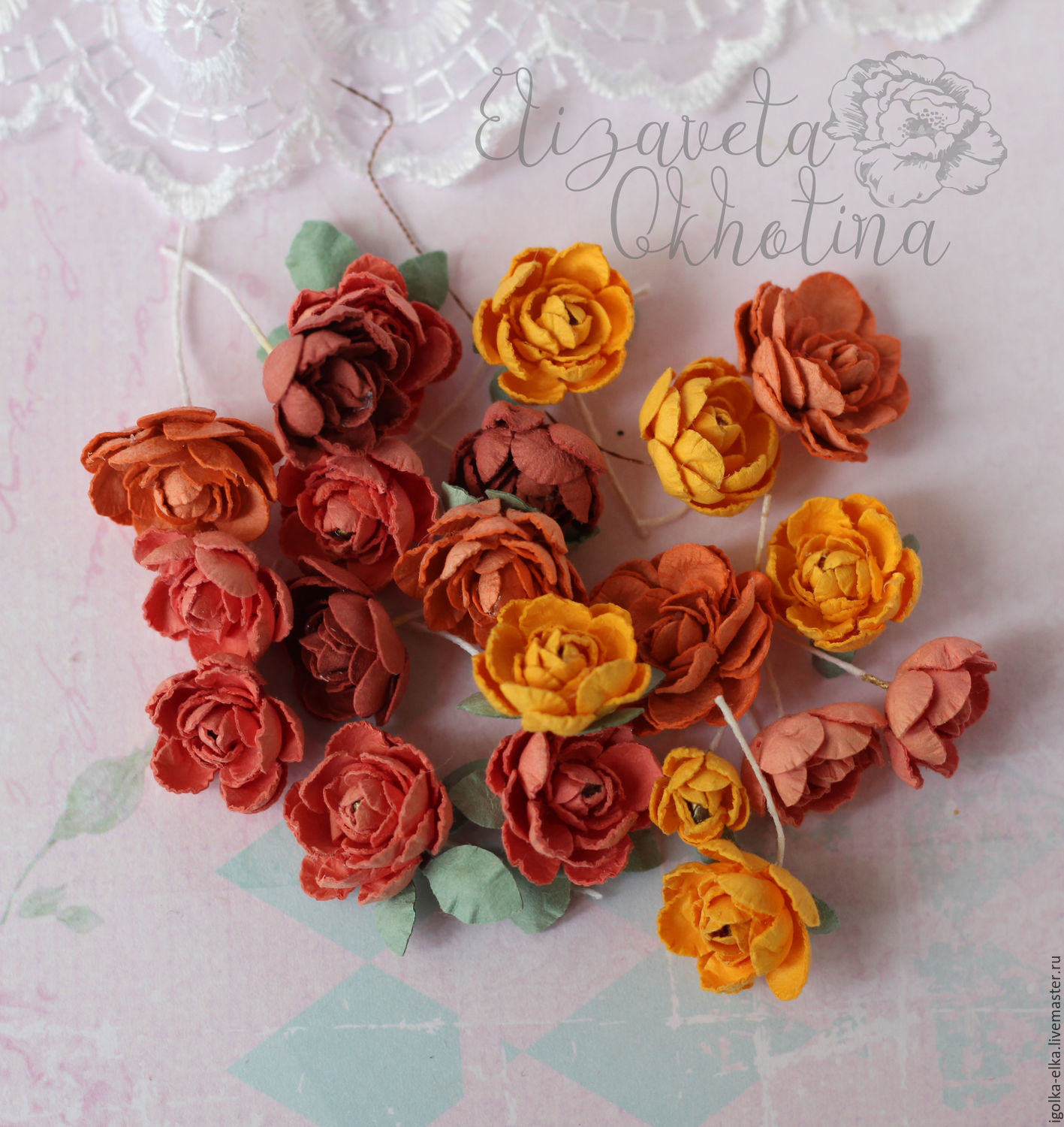 Paper Flowers Handmade Shop Online On Livemaster With Shipping