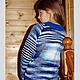 """Одежда для девочек, ручной работы. Свитер """"Северное Сияние"""" шерстяной вязаный детский. Вязание  Лоскутное шитье Пэчворк (Svetlana-Svet). Ярмарка Мастеров."""