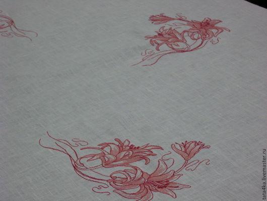 Текстиль, ковры ручной работы. Ярмарка Мастеров - ручная работа. Купить Льняная скатерть с вышивкой. Handmade. Скатерть, Скатерть купить