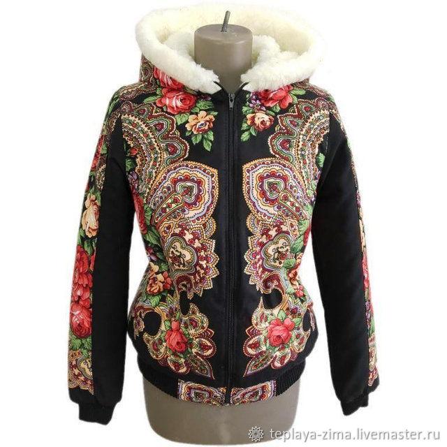 Jackets based on 'Pavloposad shawl', Outerwear Jackets, Mozdok,  Фото №1