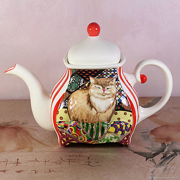 Tableware handmade. Livemaster - original item The tea pot porcelain