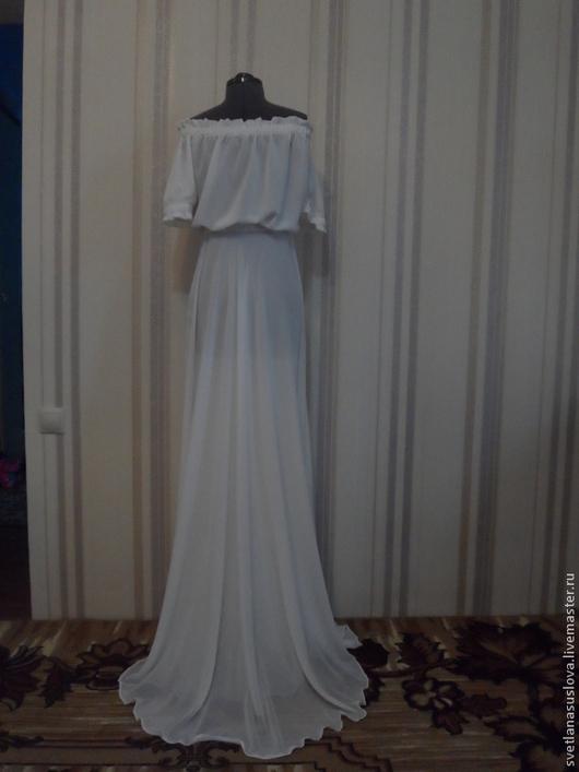 """Платья ручной работы. Ярмарка Мастеров - ручная работа. Купить Платье """"Белый шёлк"""". Handmade. Белый, платье в пол"""