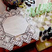 Для дома и интерьера handmade. Livemaster - original item Napkin lace embroidery. Openwork embroidery. Panels. retro. Handmade.
