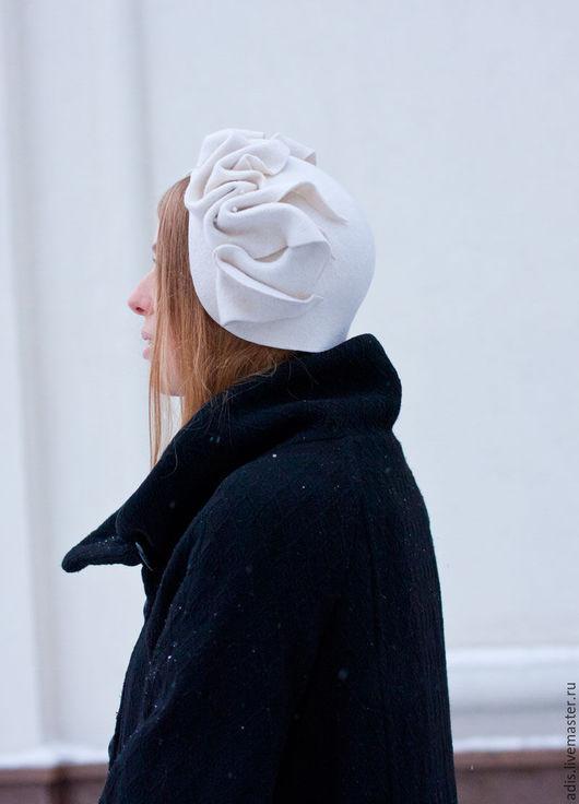 Шляпы ручной работы. Ярмарка Мастеров - ручная работа. Купить Шляпа капор. Handmade. Белый, купить шляпу, менингитка
