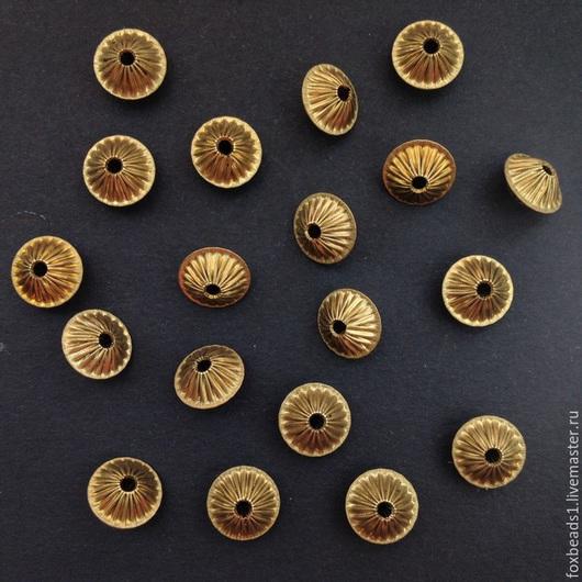 Для украшений ручной работы. Ярмарка Мастеров - ручная работа. Купить Бусины из латуни. 10х6,2 мм. Handmade. Бусины