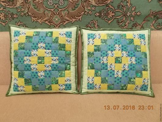 """Текстиль, ковры ручной работы. Ярмарка Мастеров - ручная работа. Купить наволочки""""Мозаика"""" 39х39. Handmade. Комбинированный, подарок на любой случай"""