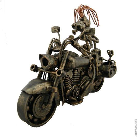 Миниатюрные модели ручной работы. Ярмарка Мастеров - ручная работа. Купить Счастливое семейство на байке Honda VTX 1300S. Handmade.