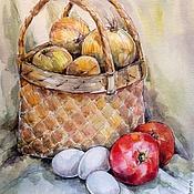 Картины и панно ручной работы. Ярмарка Мастеров - ручная работа Акварельная картина: Овощной натюрморт.. Handmade.