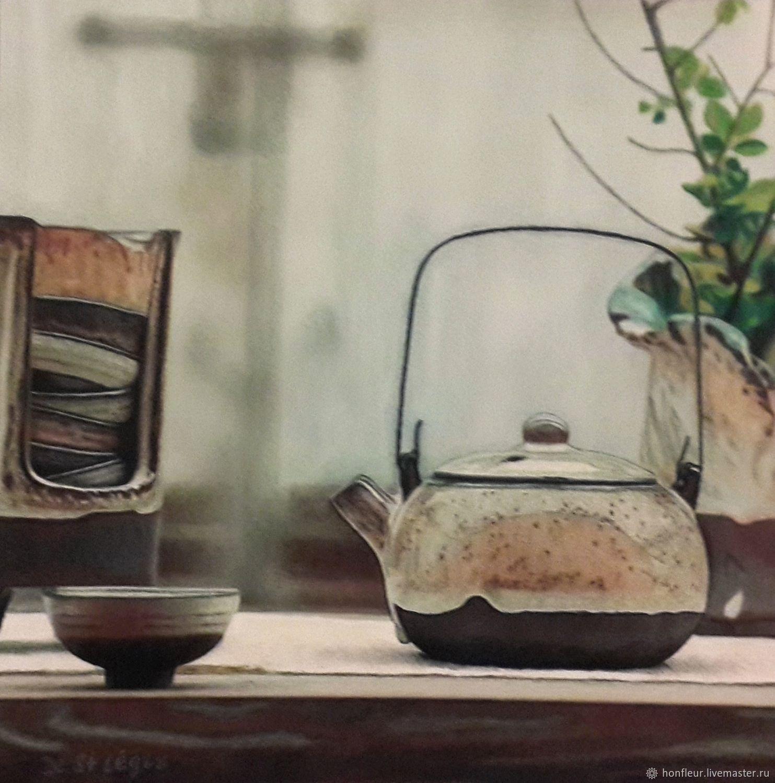 Картина: Чайные принадлежности, Картины, Москва,  Фото №1