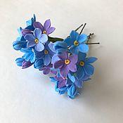 Украшения handmade. Livemaster - original item Hairpin with a forget-me-nots. Handmade.