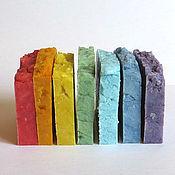 Наборы косметики ручной работы. Ярмарка Мастеров - ручная работа РАДУГА - набор натурального мыла. Handmade.