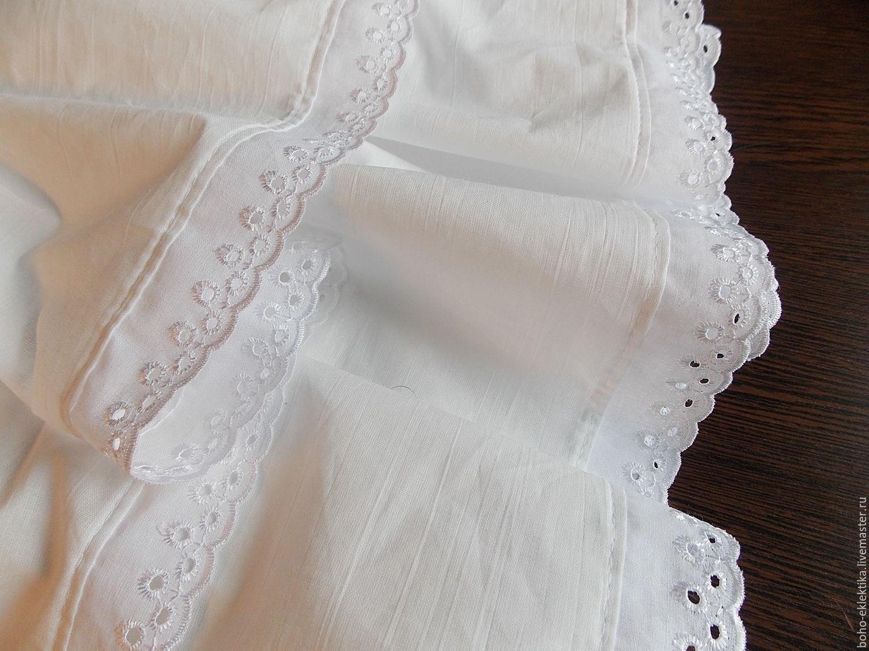 Юбки ручной работы. Ярмарка Мастеров - ручная работа. Купить Нижняя длинная юбка отделанная шитьем. Handmade. Белый