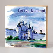 Сувениры и подарки handmade. Livemaster - original item Souvenir magnets Rostov the Great. Handmade.
