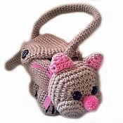 Работы для детей, handmade. Livemaster - original item Baby bag (bag-cat). Handmade.