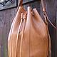 Женские сумки ручной работы. Торба рыжая. Алла Ситницкая. Ярмарка Мастеров. Натуральная кожа